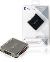 Konig CSU2ACR100BL All-in-One USB2.0 geheugenkaartlezer