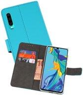 Wallet Cases Hoesje voor Huawei P30 Blauw