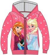 Disney Frozen cardigan vest met rits fuchsia maat 128