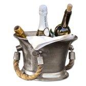 LOBERON Champagnekoeler Maxwell zilverkleurig