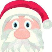 12x Kerstman vorm Kerst servetten 33 x 33 cm