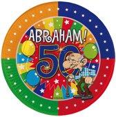 50 Jaar Abraham Knalfeest Borden - 8 stuks