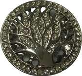 Magneetbroche levensboom zilverkleurig