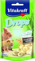 Vitakraft Dwergkonijn Drops - Yoghurt - Konijnensnoepjes - 75 g
