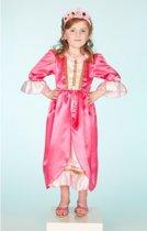 Luxe prinsessen jurk roze 5-7 jaar (110-116)