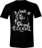 The Walking Dead - King Ezekiel Grundge Men T-Shirt - Zwart - Maat S