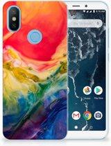 Xiaomi Mi A2 Uniek TPU Hoesje Watercolor Dark