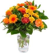 Boeket van Botanicly – Kim Medium Orange – Hoogte: 40 cm , 15 takken