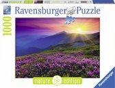 Ravensburger Bergweide in morgenrood - 1000 stukjes