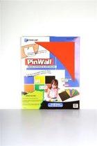 Pinwall Rood, zelfklevende kurken prikbordtegels