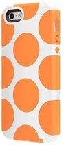 Apple iPhone SE / 5 / 5S Hoes – Wit/Oranje