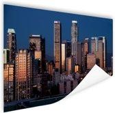 Los Angeles avond skyline Poster 150x75 cm - Foto print op Poster (wanddecoratie woonkamer / slaapkamer) / Steden Poster