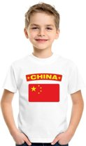 1f611a569ee0f1 China t-shirt met Chinese vlag wit kinderen - maat M (134-140