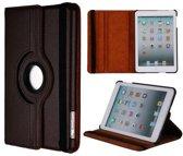 iPad Mini 1/2/3 hoes 360° roteerbaar leder Bruin