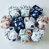 AIO Newborn Pocket luiers - 3 laags
