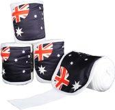 Polarfleecebandages -Flags- Set van 4 Vlag Australie 300 cm