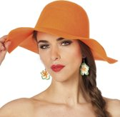 Hippie hoed golvend oranje