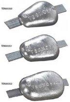 Zink anode met RVS strip 3kg (TEN00352)