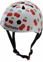 Kiddimoto - Kersjes - Small - Geschikt voor 2-6jarige of hoofdomtrek van 48 tot 52 cm - Kinderhelm - Skatehelm - Fietshelm