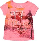 Losan Meisjes Shirt Roze met print en steentjes - Maat 128