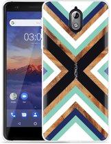 Nokia 3.1 Hoesje Wood Art