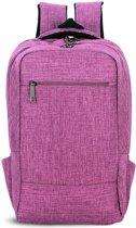 Let op type!! Universele multifunctionele 15.6 inch Laptop Schouderstas studenten Backpack voor MacBook  Samsung  Lenovo  Sony  Dell  Chuwi  Asus  HP  Afmetingen: 43 x 28 x 12 cm (paars)