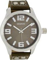 OOZOO Timepieces C1064 - Horloge - 46 mm - Leer - Bruin