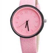 Horloge- Roze- Canvas- 40 mm