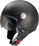 Beon Logo - Mat zwart - Jethelm - Scooterhelm - Motorhelm - XS / 54.5