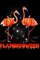 Flamingween: Halloween Custome Flamingo Flamingween pumpkin Journal/Notebook Blank Lined Ruled 6x9 100 Pages