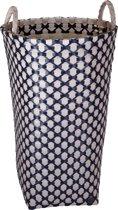 Handed By Dijon - Opbergmand - Beige met donker blauw patroon