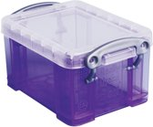 25x Really Useful Box visitekaarthouder 0,3 liter, transparant paars