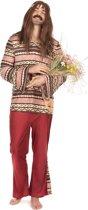 """""""Bordeaux rood hippie kostuum voor mannen - Verkleedkleding - Small"""""""