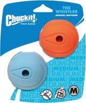 Chuckit Whistlers - Hond - Apporteerspeelgoed - Maat M - 6 cm - Duo Pack - 2 stuks