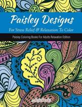 Paisley Designs For Stress Relief & Relaxation To Color