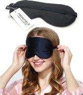 Trendfield Slaapmasker Zijden Zacht Verstelbaar Oogmasker 100% Zijde - Zwart