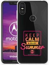 Motorola One Hoesje Summer Time