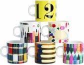 Pantone Eames Office Espressokopjes - Mixed Colors - Set van 6 stuks