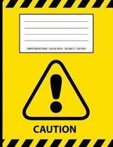 Caution Warning Periodic Table Chemistry Composition Notebook