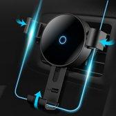 Draadloze Oplader Auto Houder Fast Charge Qi - Universele Telefoon Autohouder van TechNow - Ventilatierooster