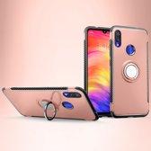 Mobigear Magnetic Ring Holder Hoesje Rose Goud Xiaomi Redmi Note 7