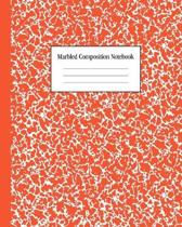 Marbled Composition Notebook: Bright Red - College Ruled Notebook - 100 Pages - 8 x 10 - Journal for Children, Kids, Girls, Teens And Women (School