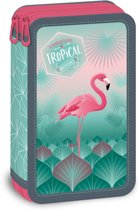 Pink Flamingo Tropical adventures - etui - 21 x 12 x 5 cm - Multi