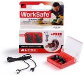 Alpine WorkSafe - Klussen/Doe het zelf - Gehoorbescherming - Oordoppen - 1 paar