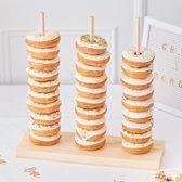 Houten donut standaard | Gold Wedding | Ginger Ray | 38cm (H) x 37cm (B) x 1cm (D)