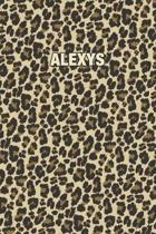 Alexys: Personalized Notebook - Leopard Print (Animal Pattern). Blank College Ruled (Lined) Journal for Notes, Journaling, Dia