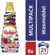 Robijn Klein & Krachtig Amour des Fleurs - 168 wasbeurten - 8 stuks - Wasmiddel