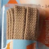 8 mm x 90 cm Plat Beige - Schoenveter Medium Flat 100% katoen