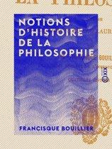 Notions d'histoire de la philosophie