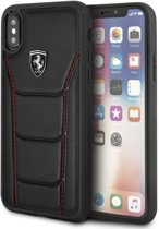 Ferrari Zwart Heritage Leather Hard Case iPhone X